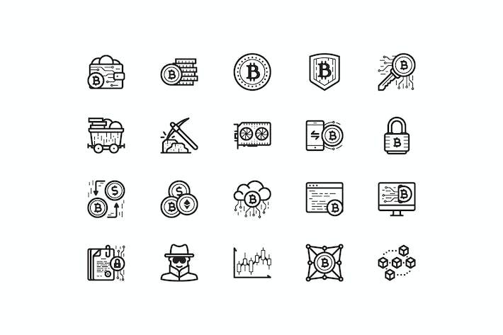 Thumbnail for 20 Íconos de Bitcoin
