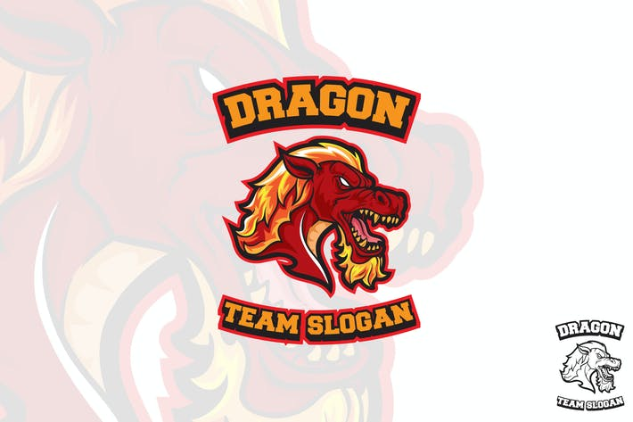 Dragon Sports Logo Mascot
