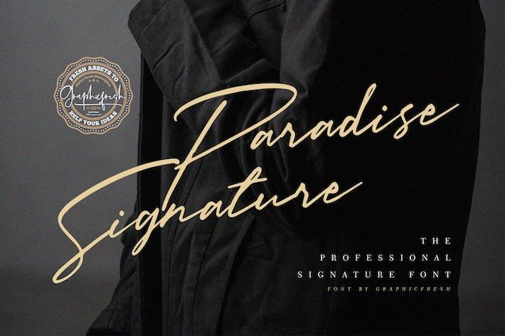Thumbnail for Paradise Signature Font