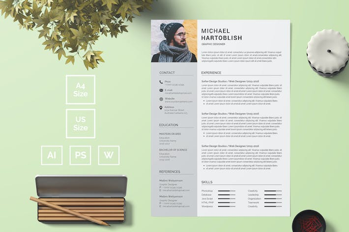 Cover Image For Resume Template 05