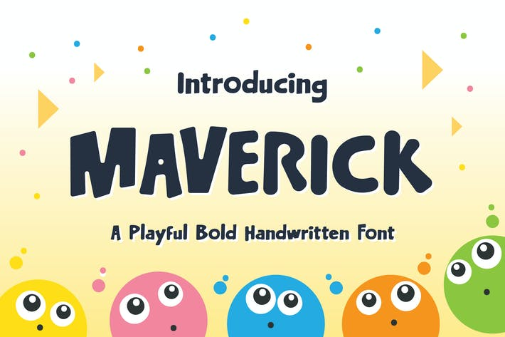 Thumbnail for Maverick Typeface - Playful Bold Handwritten Font