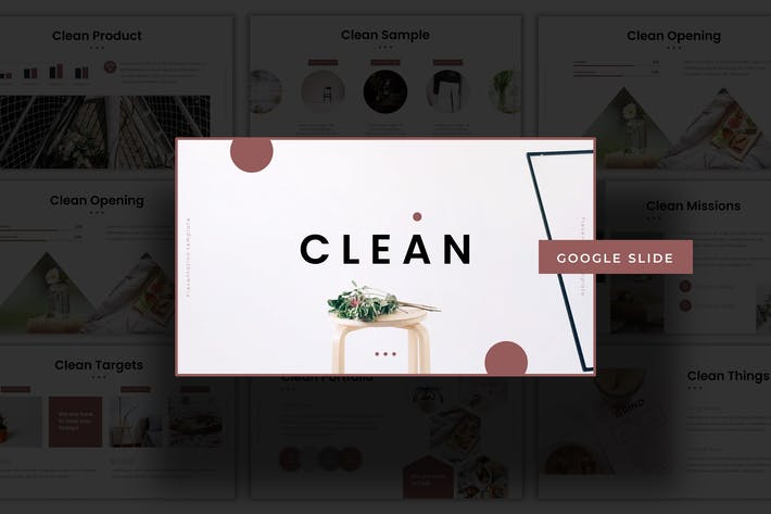 Thumbnail for Чистый - Шаблон слайдов Google