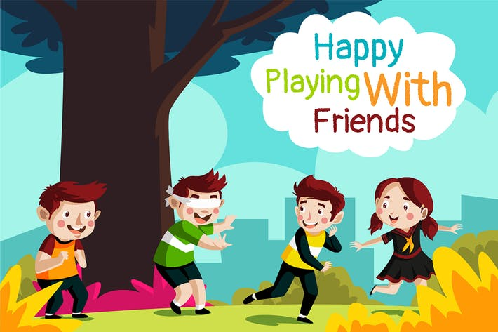 Thumbnail for playing with friend - Illustration