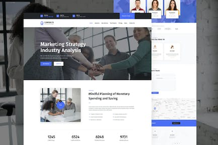 Consults – Consulting and Finance HTML Landing Pag