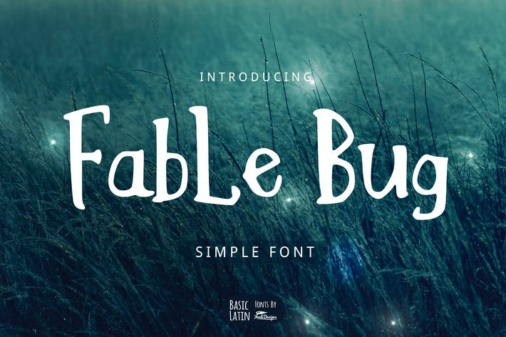 Thumbnail for Fable Bug Simple Font
