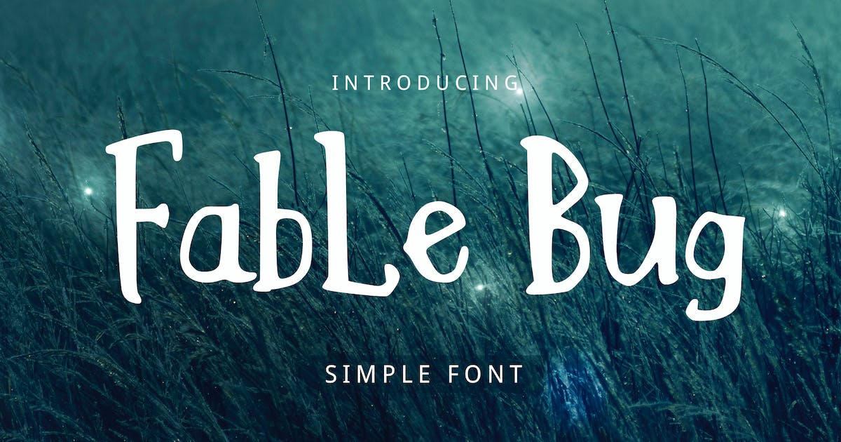 Download Fable Bug Simple Font by yandidesigns