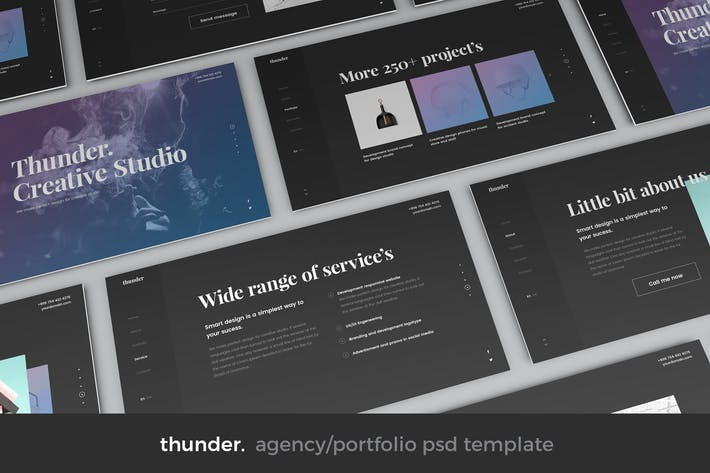 Thumbnail for Thunder - Agency Split PSD Template
