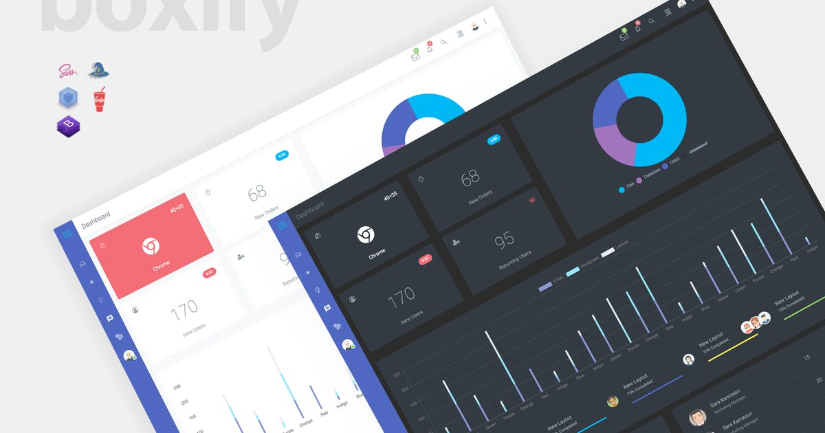 Download Boxify - Bootstrap 4 Admin Dashboard by xvelopers