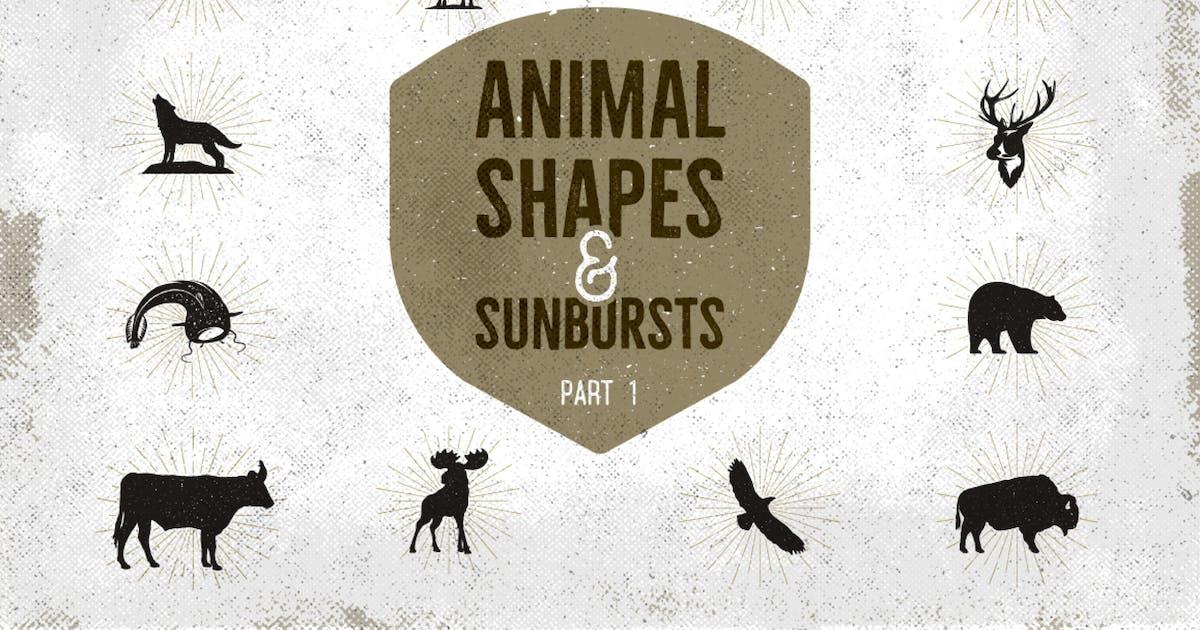 Download Vintage Animal Shapes & Sunbursts. Part 1 by JeksonJS