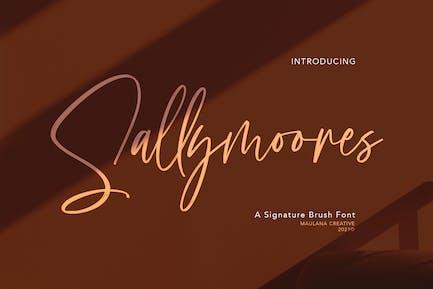 Sallymoores Signature Brush Font