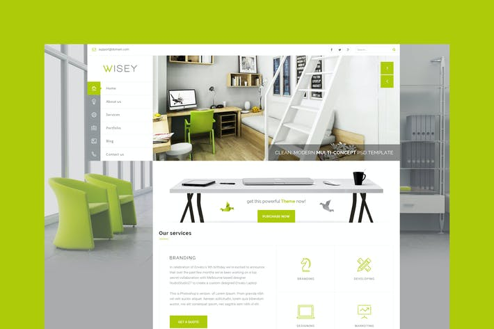 Thumbnail for Wisey - Multi-Concept HTML Template