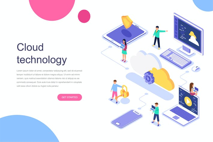 Thumbnail for Cloud Technology Isometric Concept