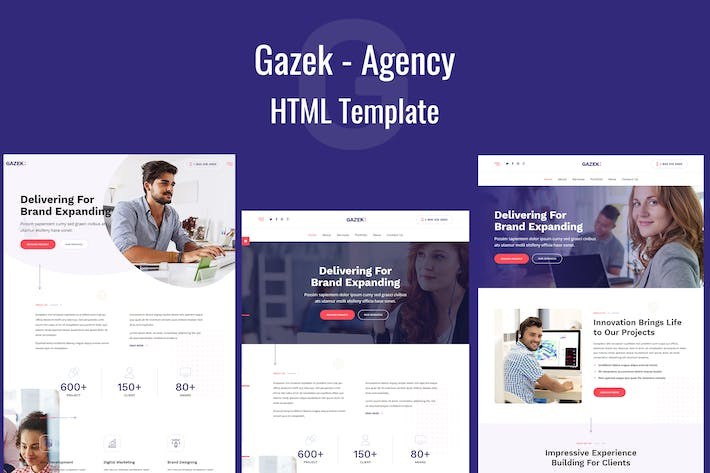 Thumbnail for Gazek - Agency Portfolio HTML Template