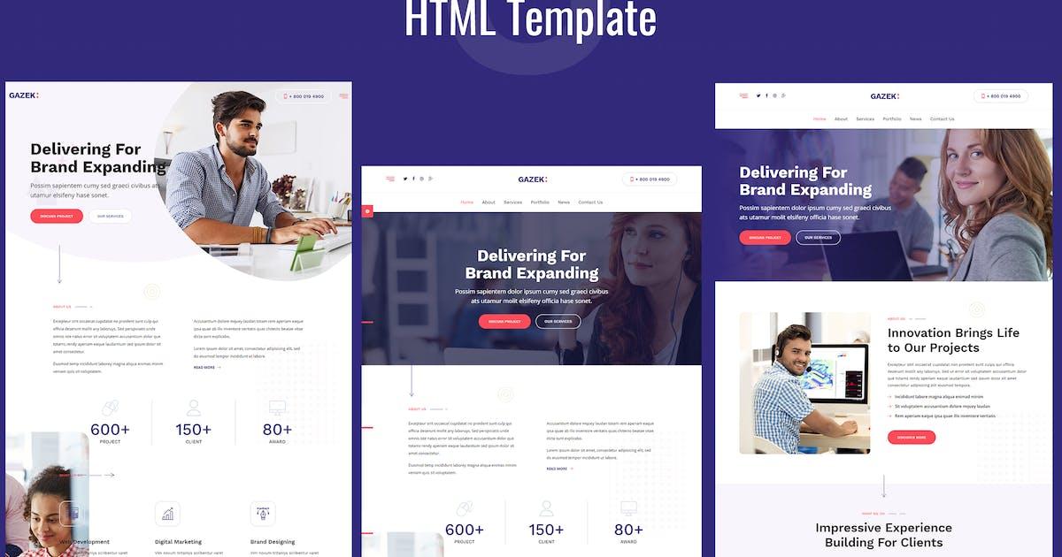 Download Gazek - Agency Portfolio HTML Template by Templatation