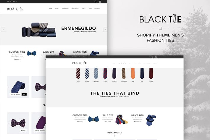 Thumbnail for eCommerce Shopify Theme Men's Fashion Ties