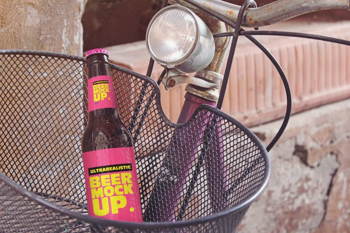 Thumbnail for Bike Basket Beer Mockup