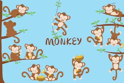 Affe handgezeichnet