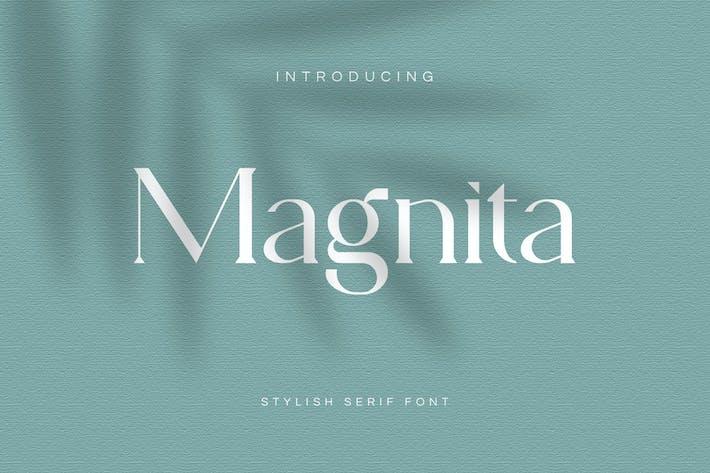 Thumbnail for Magnita Serif Font