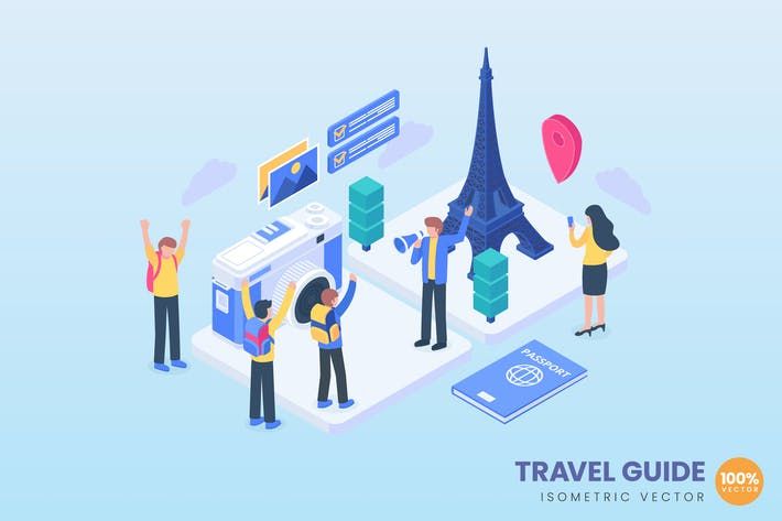 Thumbnail for Travel Guide Concept Illustration