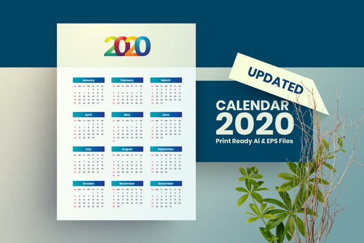 Thumbnail for Simple Calendar 2020