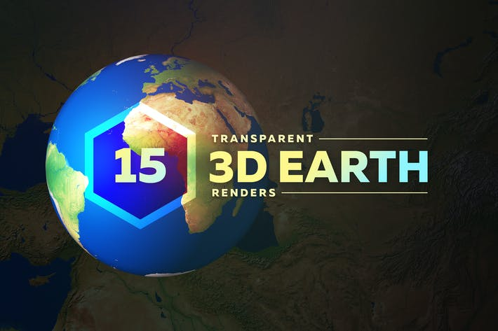 Cover Image For 3D Earth Render Without Clouds