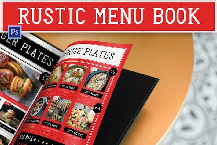 Thumbnail for Rustic Menu Book