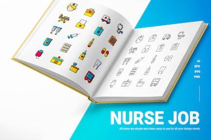 Krankenschwester Job - Icons