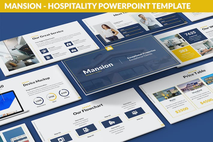 Thumbnail for Mansion - Hospitality Powerpoint Template
