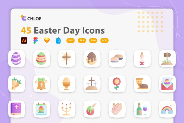 Chloe - Easter Day Icons