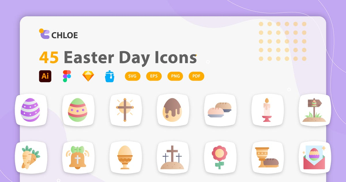 Download Chloe - Easter Day Icons by kerismaker