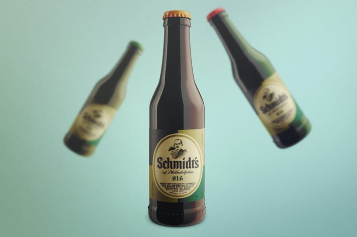 Cover Image For Realistic Beer Bottle Mock-Up Template