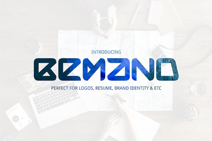 Thumbnail for Bemand | A Brand Identity Font