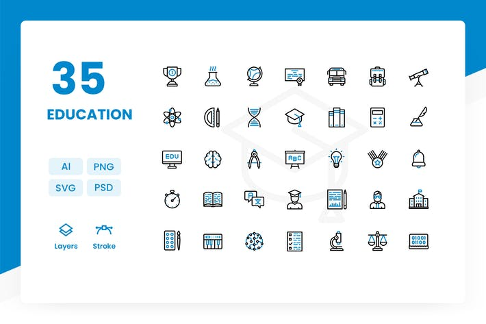Thumbnail for Education - Icons Pack