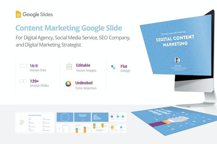 Thumbnail for Content Marketing - Google Slide Presentation