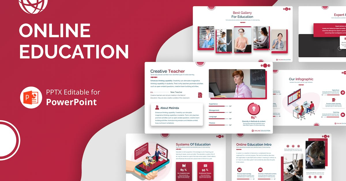Download Online Education Presentation Template by Premast
