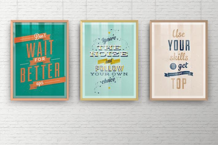 Thumbnail for A2 Elegant Poster Frame Mock-Ups