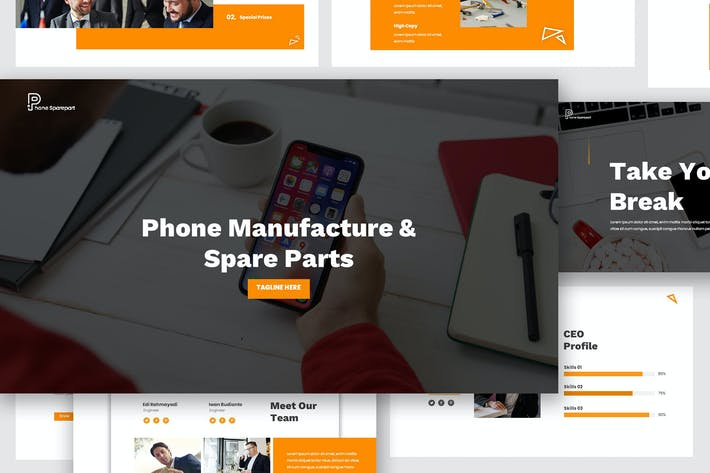 Thumbnail for Phone Manufacture and Sparepart Google Slides