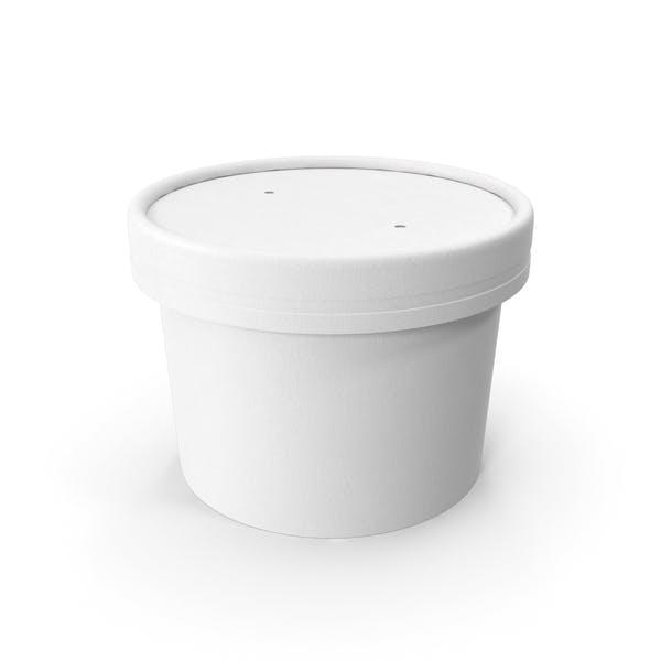 Белая бумага Food Cup с вентилируемой крышкой одноразовое ведро для мороженого 8 унций 200 мл