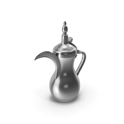 Sliver Arabische Dallah Kaffeekanne