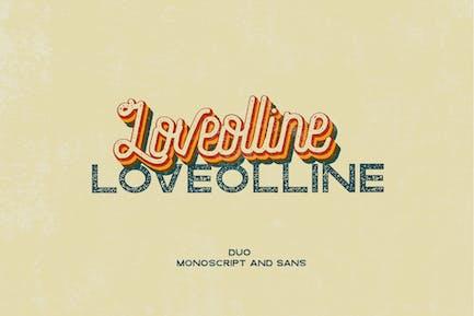 LOVEOLLINE - Font Duo