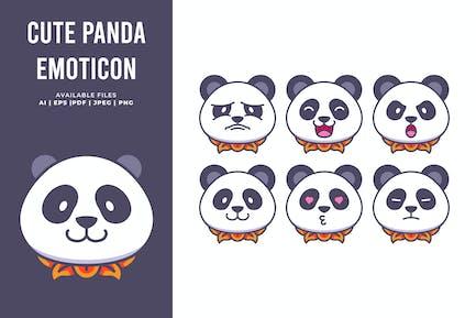Süßer Panda Emoticon