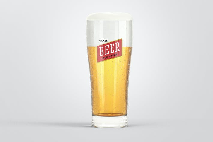 Thumbnail for Beer Glass Logo Mockup