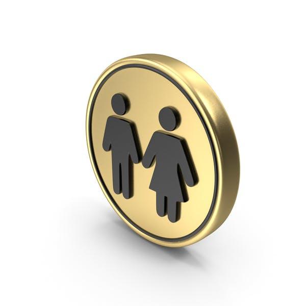Значок Логотип для монет туалета