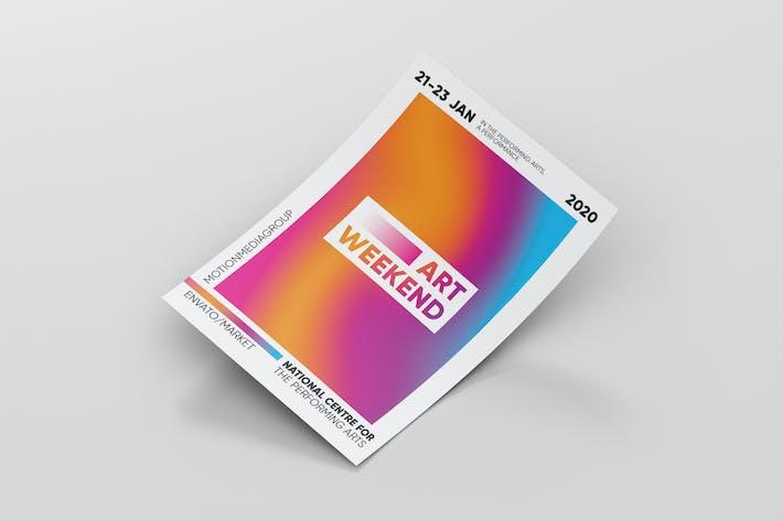 Modèle d'affiche coloré