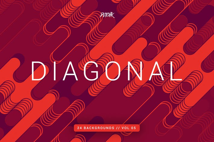Thumbnail for Diagonal |Rounded Lines Backgrounds | Vol. 05