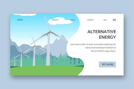 windmill landing page template