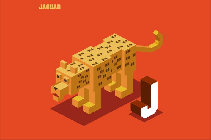 Thumbnail for J for Jaguar. Animal Alphabet