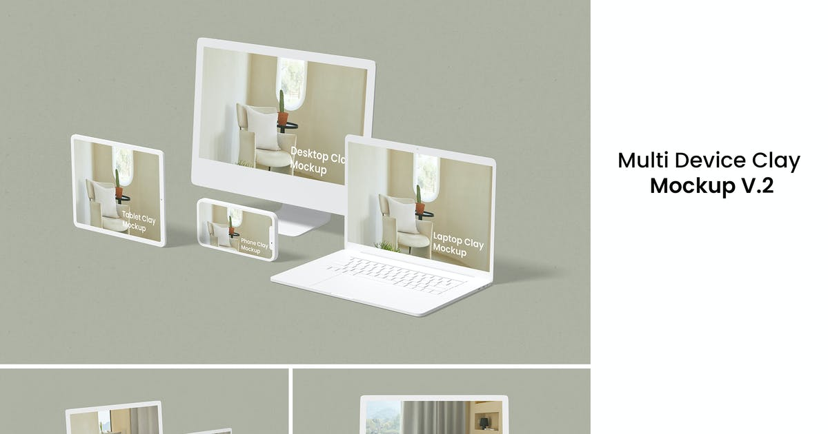 Download Multi Device Clay Mockup V.2 by yellowgold