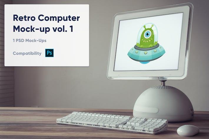 1 Retro Computer Mockup vol. 1
