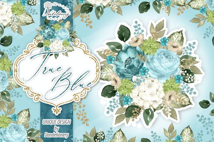 Thumbnail for Watercolor True Blue design